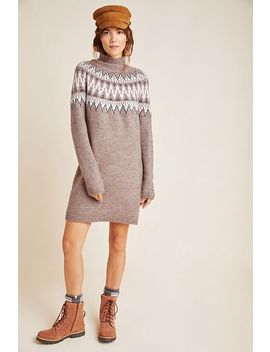 Regan Fair Isle Sweater Dress by Line & Dot