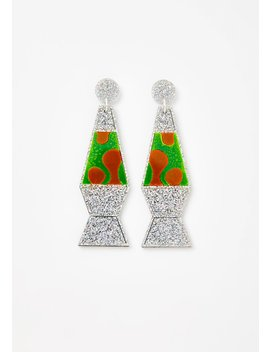 Holographic Glitter Lava Lamp Earrings by No Basic Bombshell