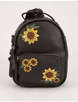 Violet Ray Sunflower Trinity Mini Backpack by Violet Ray