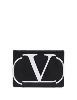 Valentino Garavani Vlogo Print Cardholder by Valentino