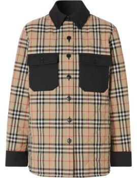 Vintage Check Flannel Overshirt by Burberry