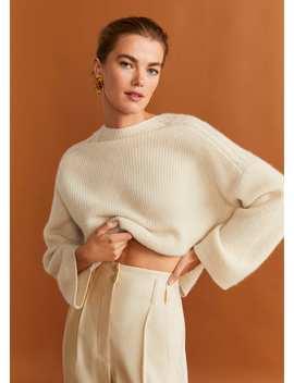 Pullover Aus 100 % Kaschmir Mit Zopfmuster by Mango