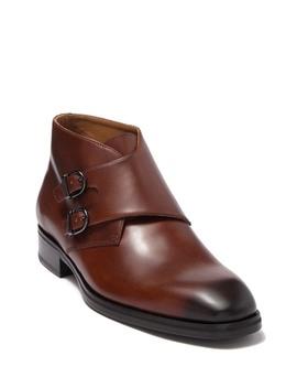 Alberto Leather Monk Strap Chukka Boot by Bruno Magli