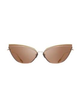 63 Mm Interweaver Cateye Sunglasses by Dita Eyewear