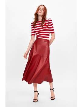 Striped Puff Sleeve Top by Zara
