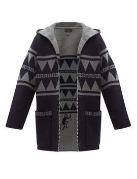 Crazy Monkey Hooded Cashmere Cardigan by Alanui