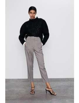 Celana Panjang High Waist Dengan Lipatan by Zara