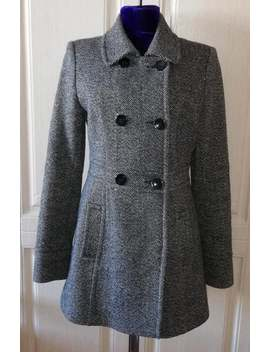Vintage Black And White Woolen Women's Coat Retro Wool Short Coat by Etsy