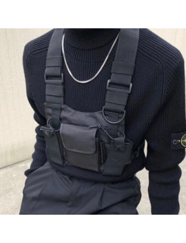 Fashion Vest Nylon Chest Rig Bag Hip Hop Functional Streetwear Tactical Harness Chest Rig Kanye West Waist Pack Chest Bag Black by Ali Express.Com