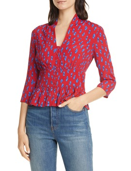 Odia Peplum Blouse by Ba&Sh