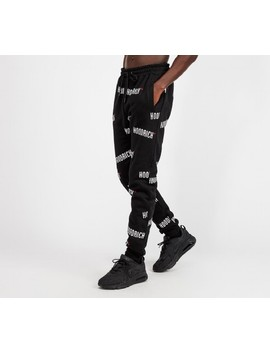 Repro V2 Fleece Pant | Black / White / Red by Hoodrich