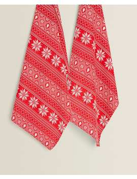Snowflake Tea Towel (Pack Of 2) Textiles & Accesories   Kitchen by Zara Home