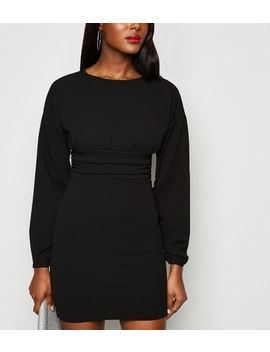 Missfiga Black Ruched Waist Bodycon Dress by New Look