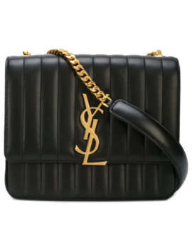 Vicky Large Matelassé Shoulder Bag by Saint Laurent