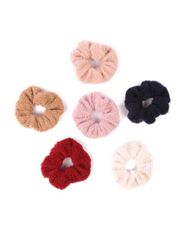 Free Shipping Fashion Women Cute Soft Teddy Velvet Hair Bands Winter Hair Scrunchies Girl's Hair Tie Accessories Ponytail Holder by Ali Express.Com