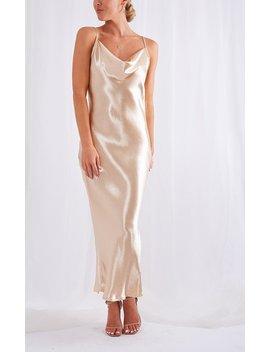 Keisha Midi Slip Dress by Pretty Lavish