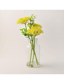 Queen Anne's Lace Green Vase by Dunelm