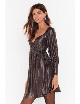 Sheen What I Want Sweetheart Metallic Mini Dress by Nasty Gal