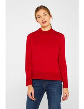 Turtleneck Pullover Mit Ripp Details by Esprit