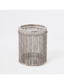 Silver Chain Tassel Candle Holder by River Island