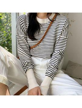 Envy Look   Drop Shoulder Stripe Top by Envy Look