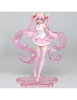 High Quality Anime Hatsune Miku Pink Sakura Miku Ver Pvc Statue Figure Speelgoed Girls Model Toys 18cm by Ali Express.Com