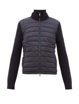 Quilted And Knitted Cardigan by Moncler