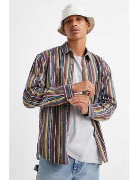 Uo Multi Stripe Twill Shirt by Urban Outfitters