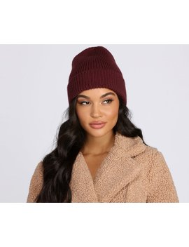 Blame It On The Weather Knit Beanie by Windsor