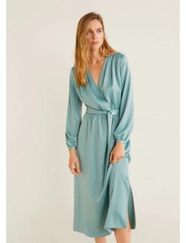 Φόρεμα σατέν φιόγκος by Mango
