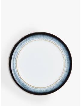 Denby Halo Rim Dinner Plate, 28cm, White/Multi by Denby
