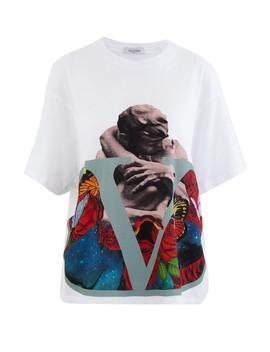 V Logo Lovers T Shirt by Valentino