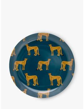 Fabienne Chapot Cheetah Side Plate, 21cm, Teal by Fabienne Chapot
