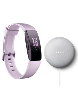 Inspire Hr Fitness Tracker Lilac & Google Nest Mini Chalk Bundle by Currys