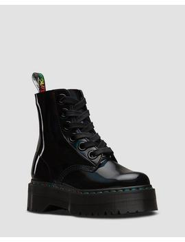 Molly In Pelle Verniciata Rainbow by Dr. Martens