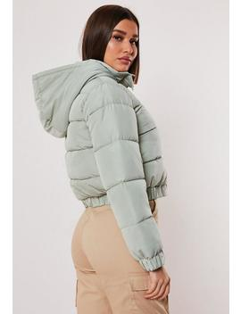 Petite Green Puffer Jacket by Missguided