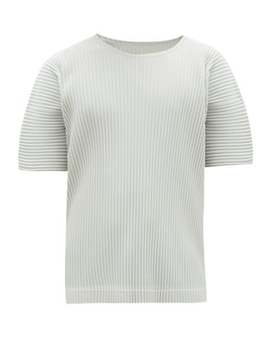 Crew Neck T Shirt by Homme Plissé Issey Miyake