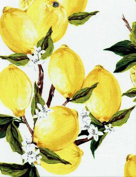 "Fabric White ""Freshly Squeezed"" Lemon Print   By The Yard by Etsy"
