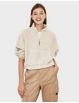Pull En Mouton Synthétique Style Kangourou by Bershka