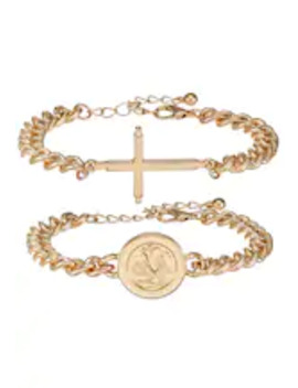 Coin And Cross Multipack   Armband by Burton Menswear London