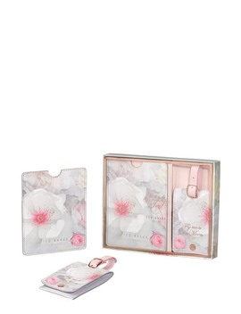 Chelsea Border Luggage Tag & Passport Set by Ted Baker London