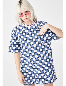 Mr Lazy Check Graphic Tee by Lazy Oaf