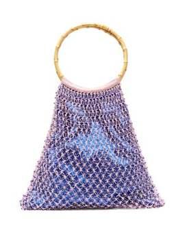 Aphrodite Bamboo Handle Beaded Crochet Bag by My Beachy Side
