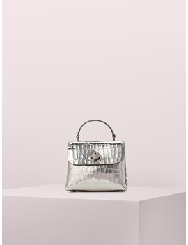 Romy Metallic Croc Embossed Mini Top Handle Bag by Kate Spade