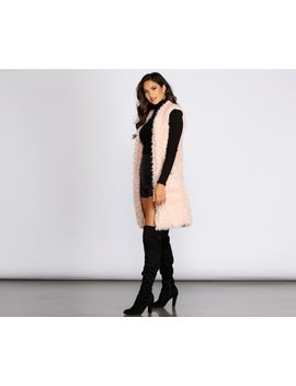 Love To Layer Long Faux Fur Vest by Windsor