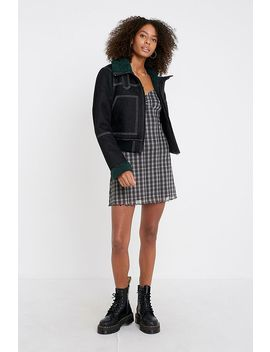 Uo Bexley Bonded Black Denim Coat by Urban Outfitters