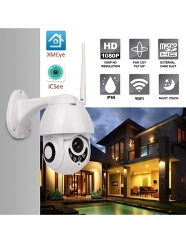 Outdoor Security Cameras Wireless Surveillance 2 Mp Hd 1080 P Onvif Wi Fi Ip Camera Speed Dome Cctv Ir Night Vision Net Cam System by Wish