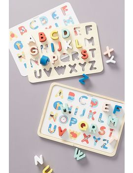 Alphabet Tray Puzzle Set by Anthropologie