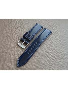 Horween® Navy Blue Shell Cordovan Leather Custom Watch Strap (Padded) by Etsy