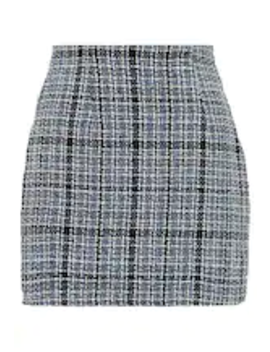 Boucle Check Mini Skirt   A Line Skjørt by Missguided